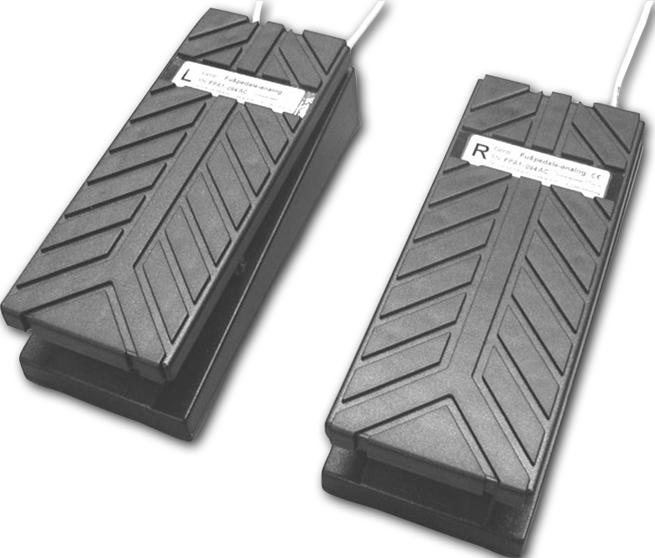 Foot pedals (left & right)